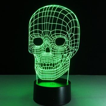 Yeduo Illusion Skeleton 3D LED Night Light Acrylic Colorful Kids Baby  Bedroom USB Table Lamp