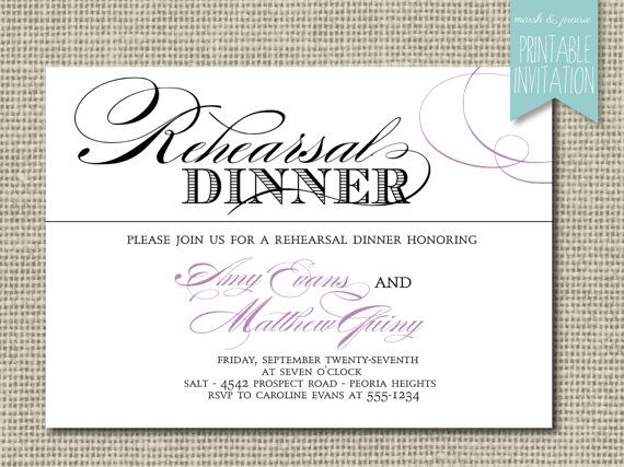 61 best rehearsal dinner invites images on Pinterest Invitation - printable dinner invitations