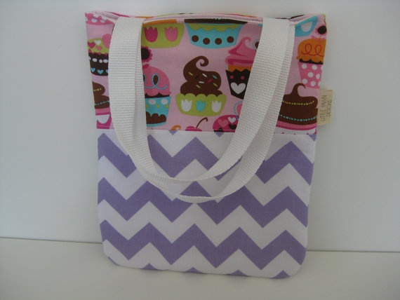 Cupcake Party Mini Tote Bag by LittleFawnDesigns on Etsy, $25.00