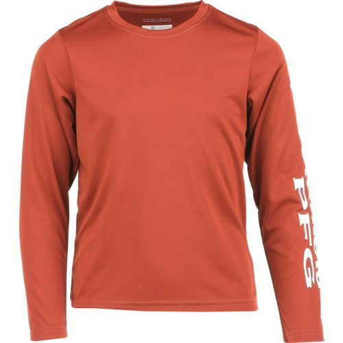 Columbia Sportswear Boys' PFG Terminal Tackle Long Sleeve T-shirt (Red Dark, Size Small) - Boy's Apparel, Boy's Casual Tops at Academy Sports