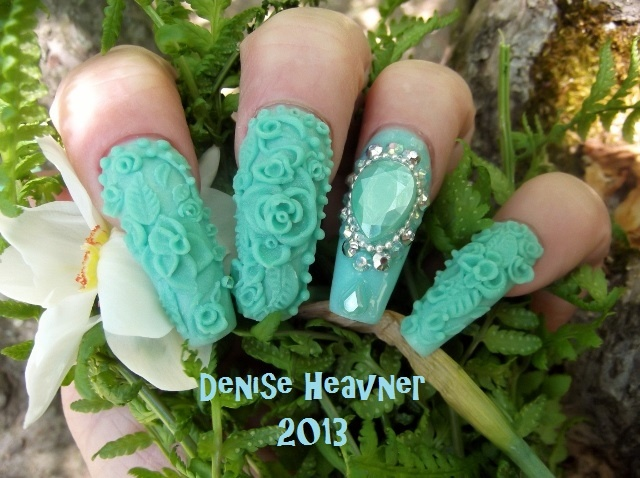 Minted ....3 D acrylic nails ....to see the video , click the photo and then subscribe .