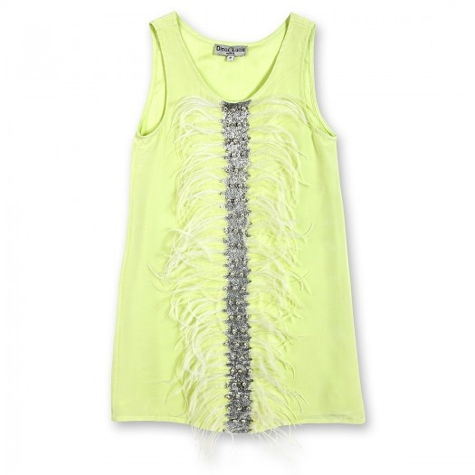 FEATHER DRESS WITH SEQUINS