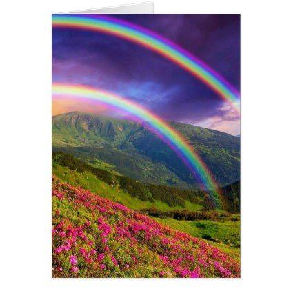 Double Rainbow Landscape | Zazzle.com
