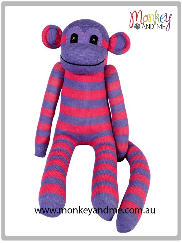 Pink and Purple sock monkey