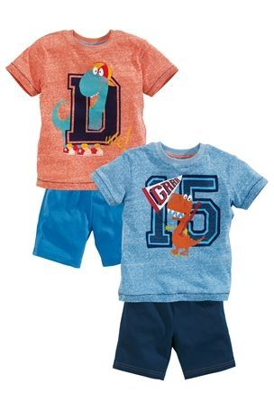 Buy College Dino Pyjamas Two Pack (9mths-6yrs) from the Next UK online shop