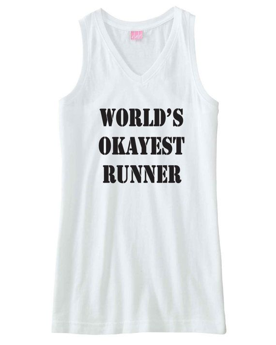 Funny work out fitness top. World's okayest by PinkPigPrinting