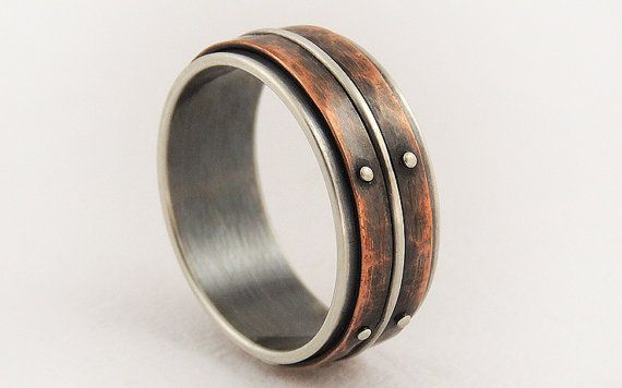 Hey, I found this really awesome Etsy listing at https://www.etsy.com/listing/198188136/unique-mens-wedding-ring-men-engagement