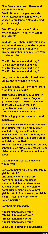 Eine Frau kommt nach Hause und erzählt ihrem Mann.. | DEBESTE.de, Lustige Bilder, Sprüche, Witze und Videos