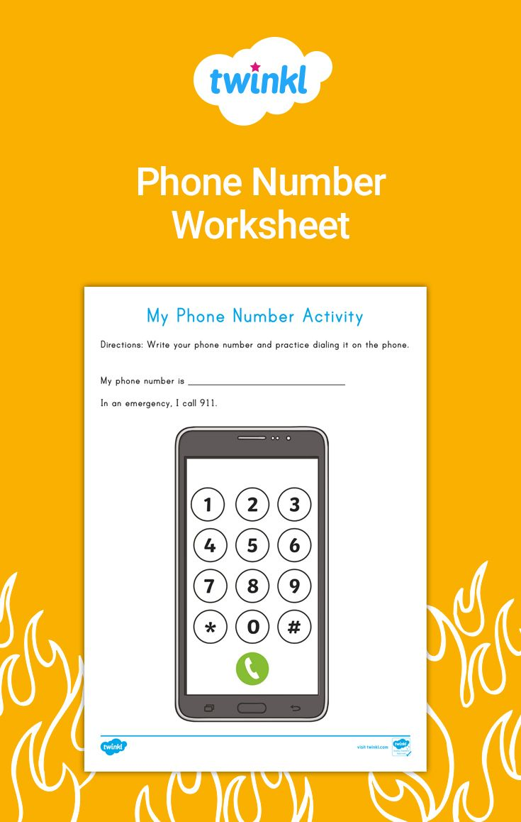 Staying Safe My Phone Number Activity Number Activities Phone Numbers Activities [ 1158 x 735 Pixel ]