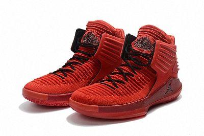 6061c716821aa3 Air Jordan 32 Rosso Corsa Big Boys Youth Gym Red Black AA1253-601 ...