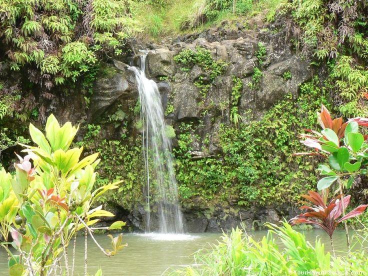 Tropical Island Waterfalls | Tropical Waterfall on Maui ...