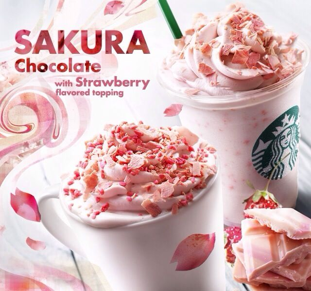 Lucky Starbucks lovers in Japan get an annual 'Sakura' campaign in honor of their Cherry Blossoms.