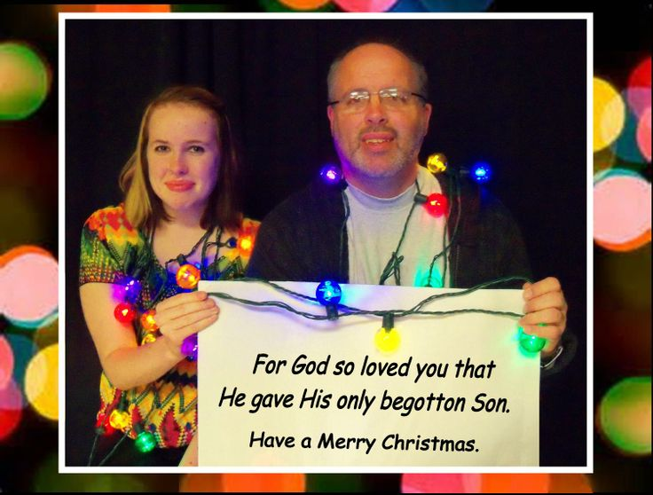 CHRISTMAS-GRAM #1 A message to the GLBT Community from Megan of New Beginnings Church and her supportive dad.  Our Christmas-Grams are holiday photos with a special, encouraging message to the Gay, Lesbian, Bisexual, & Transgender community. The pictures feature members and friends of New Beginnings Christian Church in Richmond, Virginia.  Photo taken in December of 2013.