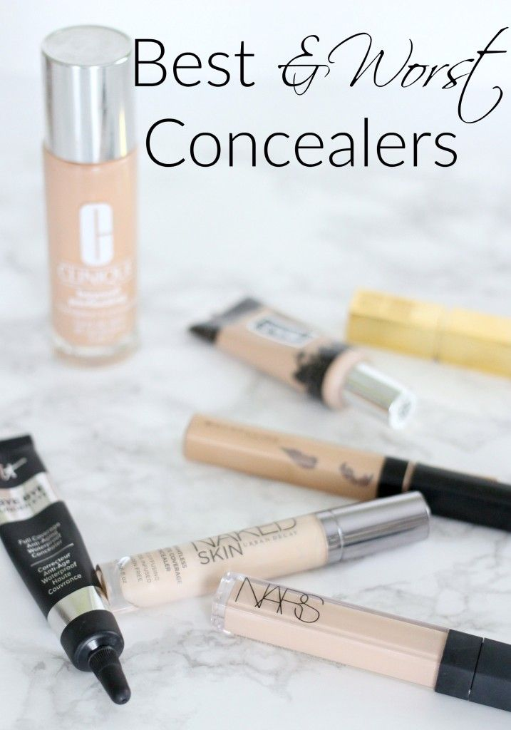 Best & Worst Concealers Review for covering dark under eye circles and blemishes. A full try on and review of high end and drugstore concealers