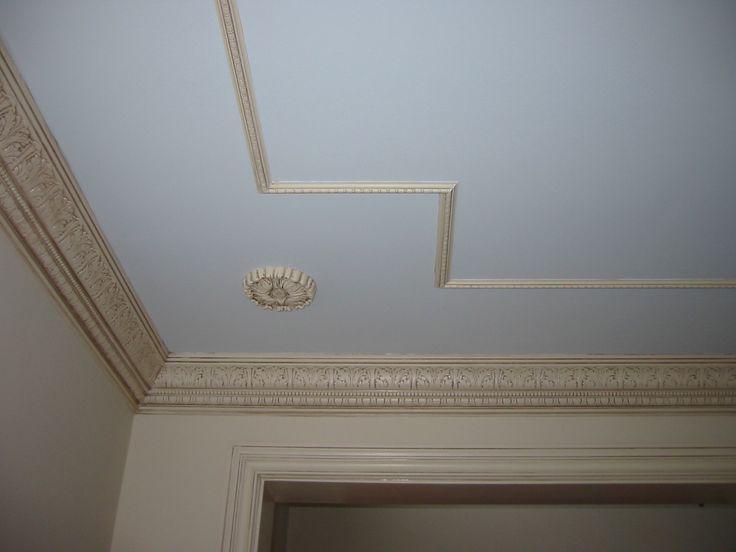 Crown Moulding Applied Ceiling Moulding And Rosette~ The Maisonette Home  Design U0026 Decorating Ideas