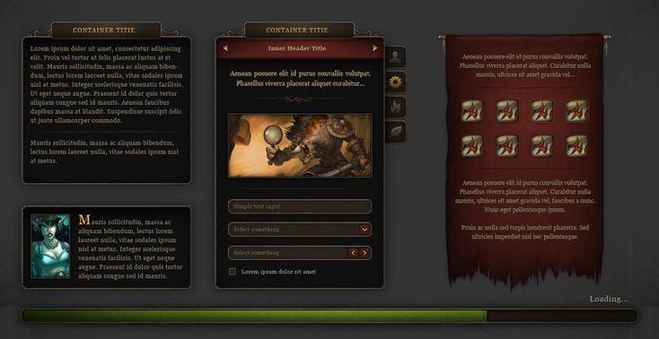 Fantasy GUI - RedLine - Asset Store