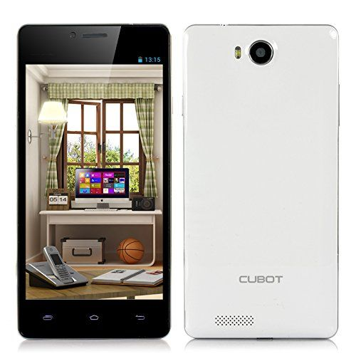 Cubot S208 Phone - 5 Inch 960x540 Capacitive IPS OGS Screen, MTK6582 Quad Core 1.3GHz CPU, 16GB ROM, Android 4.2 OS (White)