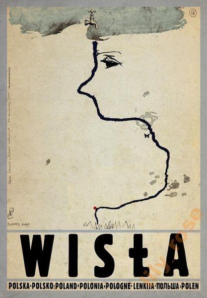 Vistula, Poland Wisla, Polska Kaja Ryszard Polish Poster