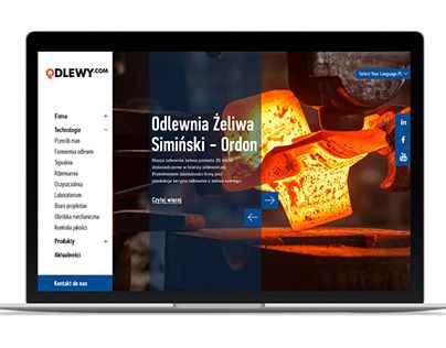 """Check out new work on my @Behance portfolio: """"Odlewy.com - company website"""" http://be.net/gallery/45845705/Odlewycom-company-website"""
