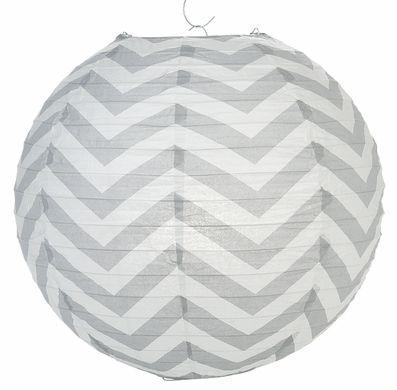 Gray Chevron Paper Lantern