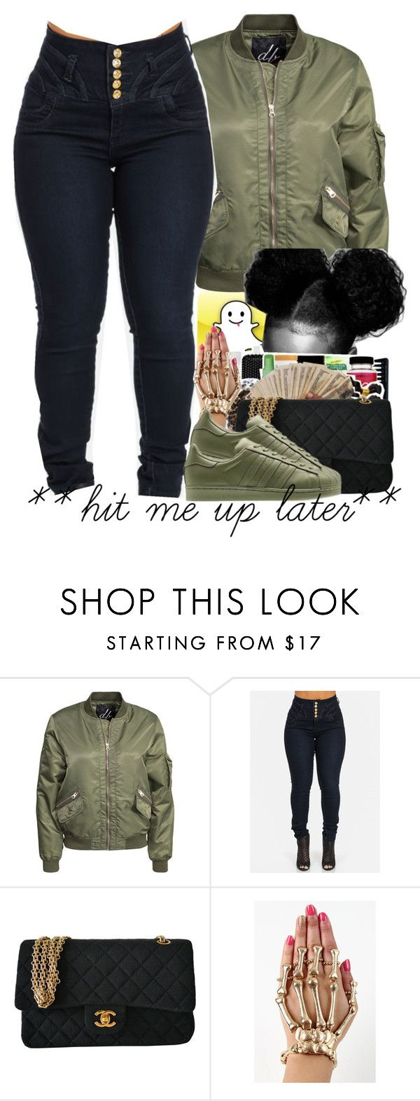 """DROP Y'ALL SNAPCHAT NAMES"" by independentbxtchesonly ❤ liked on Polyvore featuring D. Brand, Chanel and adidas Originals"