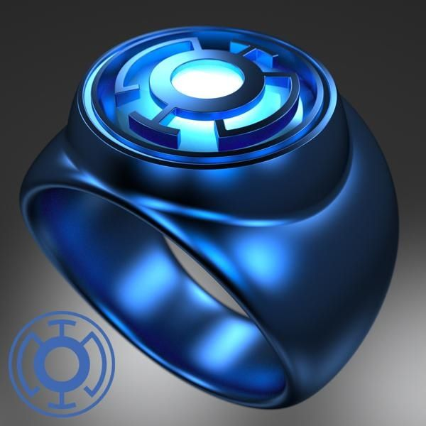 """Blue Lantern Power Ring......... Blue Lantern Corps Oath......... """"In fearful day, in raging night, With strong hearts full, our souls ignite. When all seems lost in the War of Light, Look to the stars, for hope burns bright!"""""""