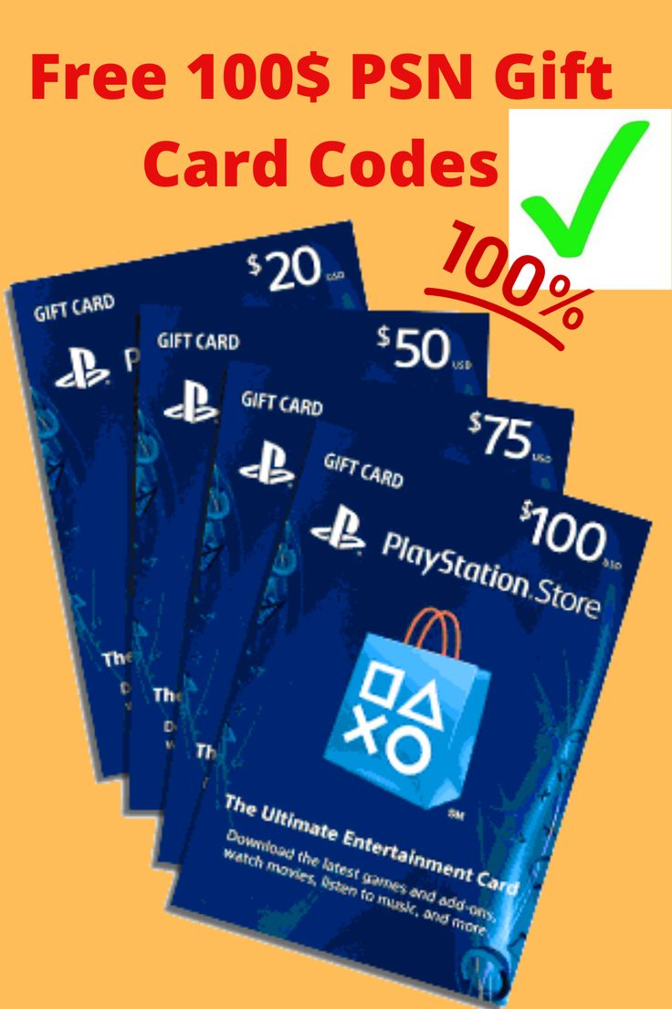 Free playstation 100 gift card codes free gift cards