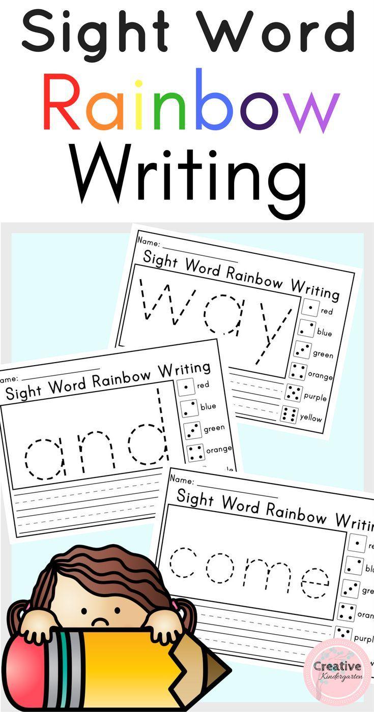 Sight Word Rainbow Writing Worksheets For Kindergarten Rainbow Writing Kindergarten Worksheets Sight Words Kindergarten [ 1400 x 735 Pixel ]