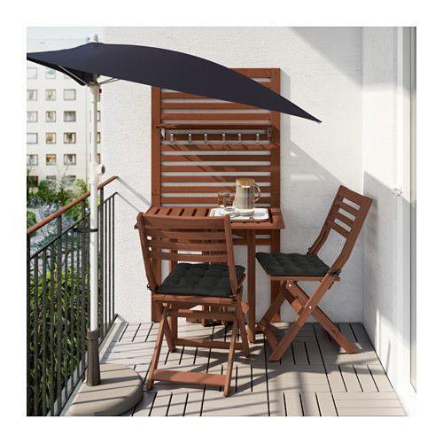 ÄPPLARÖ Pann mural+table pliante+2 chaises  - IKEA