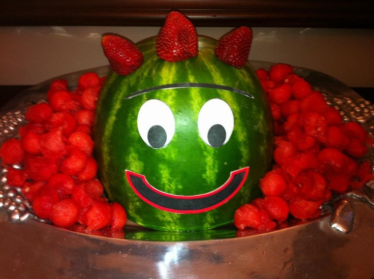 I threw my children a Yo Gabba Gabba birthday party and the Brobee watermelon was a huge hit!