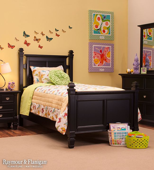 Love A Bedroom Set In Black Softer Hues Like Muted Yellow Walls And A