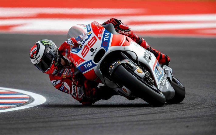 Download wallpapers Jorge Lorenzo, MotoGP, Ducati Corse, Spanish Racer, Ducati Desmosedici