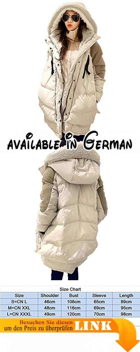 Bestor Mode Damen Daunenjacke Loose Fit Kapuze Winter Military Daunenmantel (S, Beige). Leicht, isolierenden und winddicht. Oberhalb von 80 % Entendaunen. daunendichten Futter. High-Loft Daunenjacke , die Plüsch Wärme liefert in rauen kalten #Apparel #OUTERWEAR