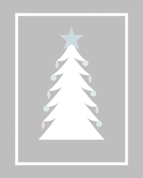 Christmas Tree Print by HighElevationDesigns on Etsy