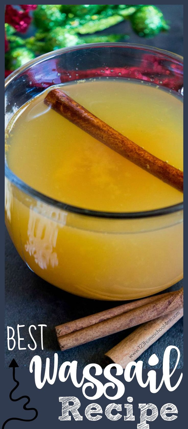 Hands down this is the BEST Wassail Recipe! Not only is it super easy, you can make it in the crockpot, and it is a great Christmas drinks for kids. This hot apple cider based wassail recipe will make your home smell like Christmas. This is our traditional, family favorite holiday recipe we make every single year! You'll love this as a Christmas recipes breakfast!