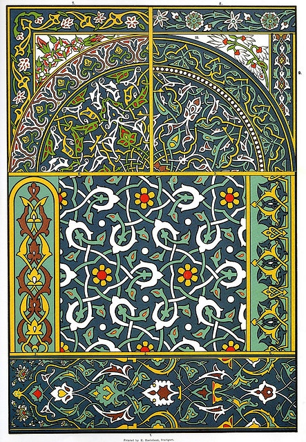 @Tonya Vaughn Architectonic Ornaments in Glazed Clay@  From Mosques and tombs at Brussa and Mouradieh. The Turkish-specific system of ornamentation really began in the 15th century, derived at first from Byzantine and later, Persian and Arabian styles.