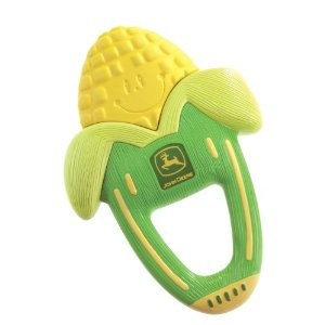 John Deere vibrating corn teether - Oh my! I was looking up vibrating teethers and found this along my search. Hilarious!