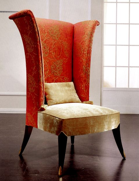 7143 HIGH BACK WING ARMCHAIR - IMAGE OF 7143 HIGHBACK CHAIR WITHOUT BUTTONED UPHOLSTERY