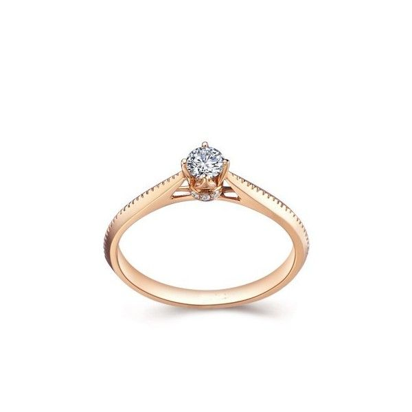 Delicate And Simple With Rose Gold Beautiful Solitaire
