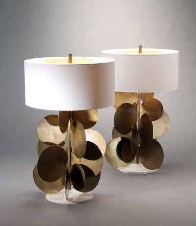Herve Van Der Straeten Bronze Lamps Bocadolobo Interior