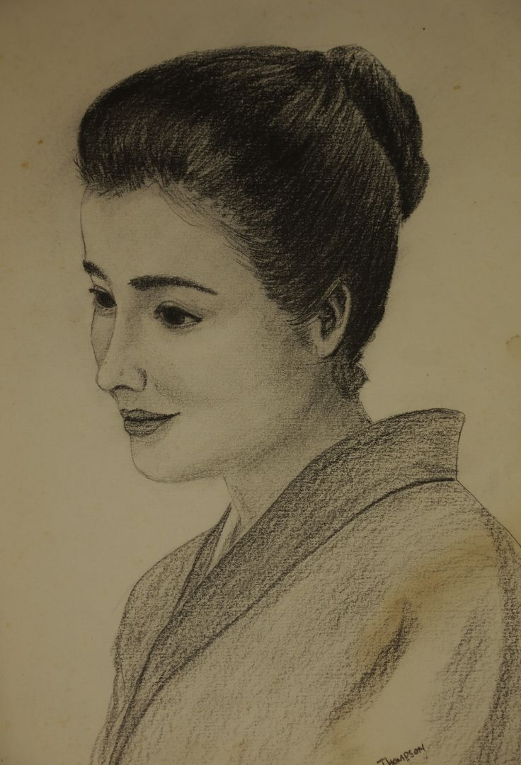 Pencil portrait . This lady is now in her late seventies, but still has the same tranquil personality as she had when I drew her in her teens.