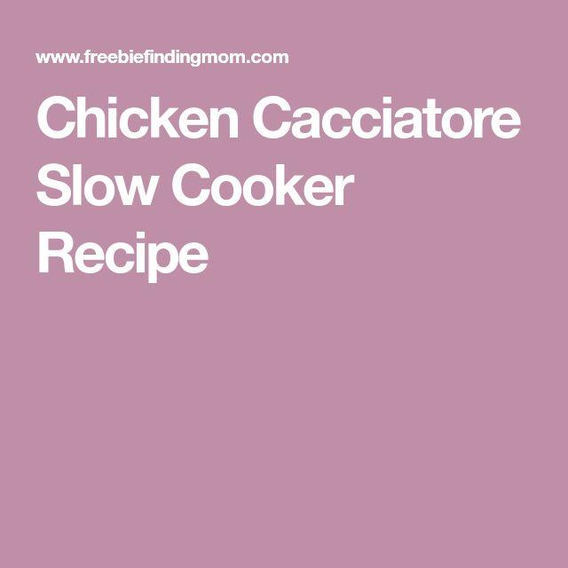 Chicken Cacciatore Slow Cooker Recipe