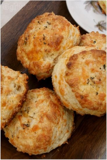 Ina Garten's Buttermilk Cheddar Biscuits *Easy to make, flaky and moist, and bursting w/ flavor!