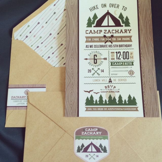 Anders Ruff Custom Designs, LLC: New to the Shop: Outdoor Camping Party Invitation Printable