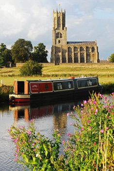 The 15th century Church of St Mary and All Saints, Fotheringhay,  Northamptonshire.