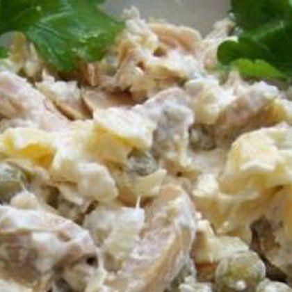 Рецепт нежного салата с курицей и грибами «Пина-Колада»
