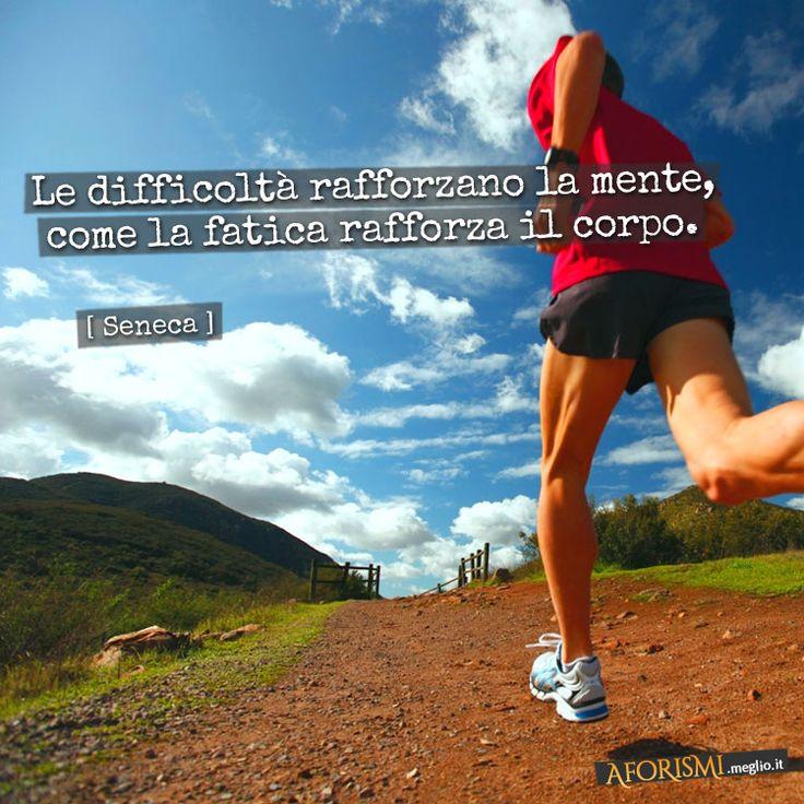 Lucio Anneo Seneca • Le difficoltà rafforzano la mente, come la fatica rafforza il corpo.
