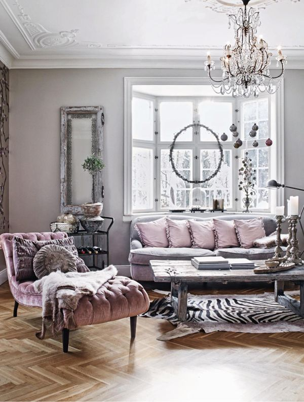 Lt grey and lt pink such a pretty and sophisticated combination