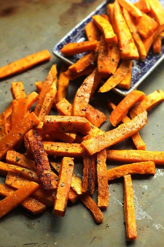 Garlic Butter Sweet Potato Fries! Yum yum yum!