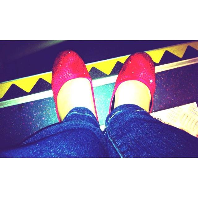 Super sparkly ruby slippers!